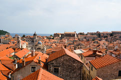 Upper View of   old houses in Dubrovnik Old Town Royalty Free Stock Photo
