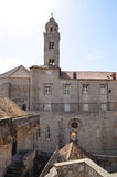 Upper View of  old palace with tipical windows in Dubrovnik Old Town Royalty Free Stock Photo