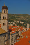 Upper View of Stradun Street in Dubrovnik royalty free stock images