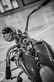 Upper view of a vintage motorcycle Royalty Free Stock Photo