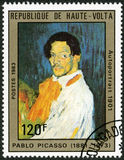 UPPER VOLTA - 1983: shows Self-portrait, by Pablo  Stock Photos