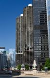 Upper Wacker Drive Skyline Royalty Free Stock Photos
