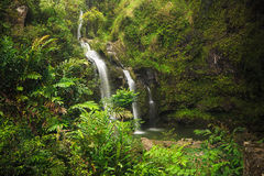 Upper Waikuni Falls on the Road to Hana, Mau Stock Photography