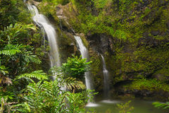 Upper Waikuni Falls on the Road to Hana, Mau Royalty Free Stock Image
