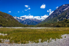 Upper Waimakariri River Royalty Free Stock Images