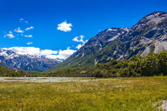 Upper Waimakariri River Royalty Free Stock Photo