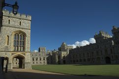 The upper ward at Windsor Castle. With the state, private and guest apartments Royalty Free Stock Image