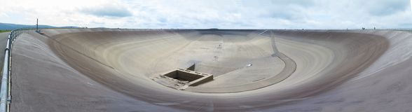 Upper water reservoir of power plant Dlouhe strane in Czech republic Stock Image
