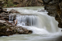 Upper waterfall at Johnson Canyon Canada Royalty Free Stock Photography