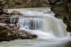 Upper waterfall at Johnson Canyon Canada Royalty Free Stock Photography