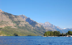Upper waterton lake royalty free stock photos