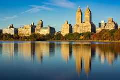 Upper West Side and Central Park Reservoir, New York City Stock Photos