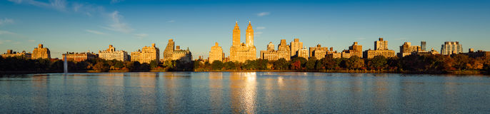 Upper West Side and Central Park sunrise, New York City Stock Images