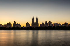 Upper West Side and Central Park at sunset, New York Stock Photo