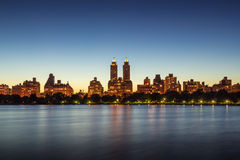 Upper West Side and Central Park at twilight New York Royalty Free Stock Photo