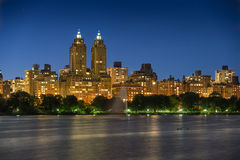 Upper West Side and Central Park at twilight, New York Royalty Free Stock Image