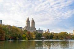 Upper West Side-Form der See im Central Park Lizenzfreie Stockfotos