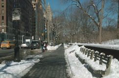 Upper West Side Manhattan New York. Looking north Uptown at West 70th Street, along Upper West Side Avenue, Manhattan New York, beside Central Park West. First stock photos