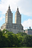Upper West Side skyline from Central Park Stock Image