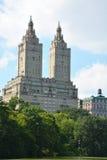 Upper West Side skyline from Central Park Stock Image