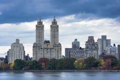 Upper West Side-Skyline vom Central Park, New York City Lizenzfreie Stockfotos