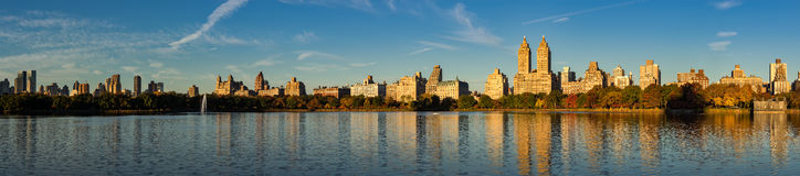 Upper West Side und Central Park im Fall, New York Lizenzfreies Stockbild