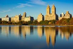 Upper West Side- und Central Park-Reservoir, New York City Stockfotos