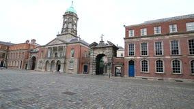 Upper Yard in Dublin Castle. In Ireland stock video footage