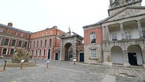 Upper Yard in Dublin Castle. In Ireland stock video