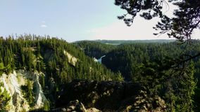 Upper Yellowstone Falls in Afternoon. royalty free stock image