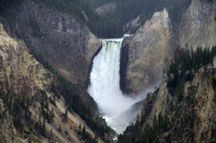 Upper Yellowstone Falls Royalty Free Stock Images