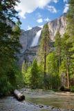 Upper Yosemite Falls, Yosemite National Park Stock Images