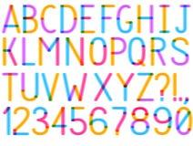 Uppercase шрифт вектора Стоковое Фото
