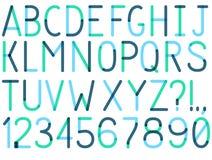 Uppercase шрифт вектора Стоковые Изображения