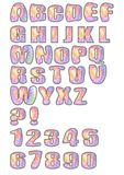 Uppercase alphabet set designed in pastel mosaic Stock Photography