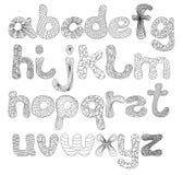 Uppercase engraçado do alfabeto na cor preta Imagens de Stock