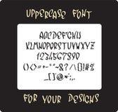 Uppercase font design Royalty Free Stock Photos