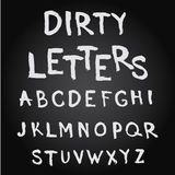 Uppercase hand drawn letters Royalty Free Stock Photos