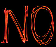 Uppercase laser alphabet - capital letter n and o Stock Photo
