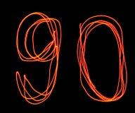 Uppercase laserowy abecadło - kapitał liczba 9, (0) i Zdjęcie Royalty Free