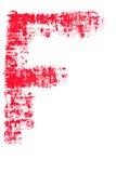 Uppercase lipstick alphabet - capital letter F. Isolated uppercase letter F made of red lipstick with fabric texture Stock Photography