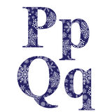 Uppercase and lowercase letters P and Q Stock Photography