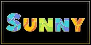 Uppercase SOLIGT baner för stilfull emaljmosaik stock illustrationer
