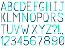 Uppercase vector font Stock Images