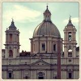 Kyrka av Sant'Agnese i Agone Arkivfoto