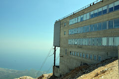 Upperstation of Mount Tahtali near Antalya, Turkey. This is the upper station of the cableway to the top of Mount Tahtali, near Antalya, Turkey Stock Image