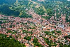 Upperview de Brasov - cidade velha Imagem de Stock