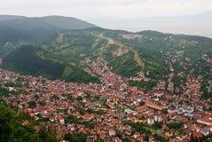 Upperview di Brasov - vecchia città Immagini Stock