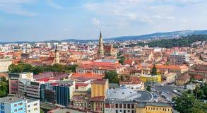 Upperview di Cluj Napoca Fotografie Stock