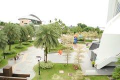 Upperview inom sentosaen singapore Arkivbilder